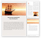 Cars/Transportation: Sailing Ship Word Template #05333