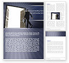 Business: Open Doors To The Light Word Template #05334