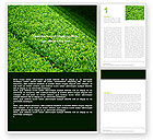 Nature & Environment: Green Grass Word Template #05336