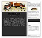 Cars/Transportation: Plantilla de Word - camiones de transporte #05338