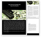 Financial/Accounting: Money and Guns Word Template #05349