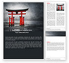 Art & Entertainment: Ancient Japan Word Template #05350
