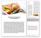 Food & Beverage: Shrimp Word Template #05355