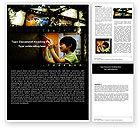Education & Training: Educational Films Word Template #05356