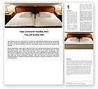 Careers/Industry: Motel Room Word Template #05357