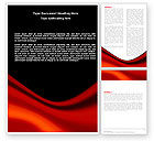 Abstract/Textures: Red Wave Word Template #05366