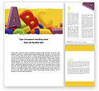 Education & Training: Alphabet Word Template #05374
