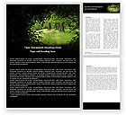 Nature & Environment: Pathway In The Forest Word Template #05377