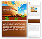 Nature & Environment: Wind Energy Versus Coal Plant Word Template #05385