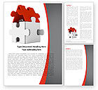 Business: House Puzzle Word Template #05387