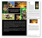 Education & Training: Owl Collage Word Template #05395
