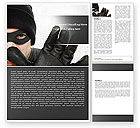 Legal: Masked Man Word Template #05417
