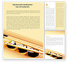 Food & Beverage: Sushi Rolls Word Template #05420