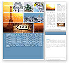 Careers/Industry: Paris In Collage Word Template #05425
