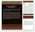 Art & Entertainment: Antique Frame Decoration Word Template #05438