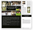 Agriculture and Animals: Wolf Word Template #05439