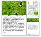 Sports: Marked Golf Hole Word Template #05441