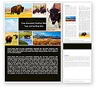 Agriculture and Animals: Bison Word Template #05455