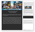 Construction: Times Square Word Template #05456