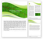 Nature & Environment: Green Leaf Wave Word Template #05458