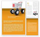 Careers/Industry: Cart Word Template #05463