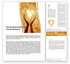 Religious/Spiritual: Sharing Love Word Template #05472