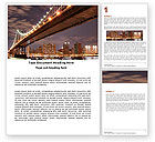 Construction: Manhattan Bridge Word Template #05475
