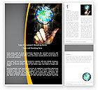 Technology, Science & Computers: Modèle Word de liens mondiaux #05493