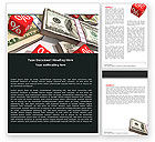 Financial/Accounting: Dollars Investering Word Template #05515