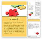Consulting: Red Puzzel Word Template #05521