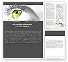 Consulting: Green Eye Word Template #05524
