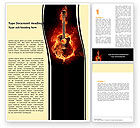 Art & Entertainment: Jazz Guitar Word Template #05536