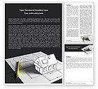 Careers/Industry: House Draft Word Template #05541