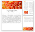 Food & Beverage: Free Fruit Jelly Word Template #05543