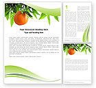 Agriculture and Animals: Orange Tree Word Template #05547