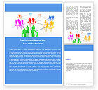 Careers/Industry: Social Network Communication Word Template #05548