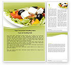 Food & Beverage: Greek Salad Word Template #05549