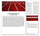 Sports: Racetrack Word Template #05557