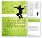 Sports: Playing Ball Word Template #05559