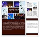 Construction: Millennium Wheel Word Template #05560
