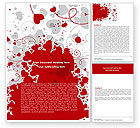 Abstract/Textures: Heart Stains Word Template #05561