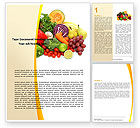 Agriculture and Animals: Fruits and Vegetables Word Template #05579