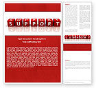 Careers/Industry: Support Word Template #05580