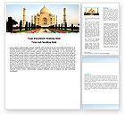 Flags/International: Taj Mahal Word Template #05583