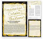 Financial/Accounting: Plantilla de Word - rescate de crisis financiera #05593