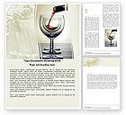 Careers/Industry: Wine Word Template #05605