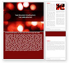Abstract/Textures: Red Lights Word Template #05609