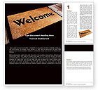 Business Concepts: Welcome Carpet Word Template #05615