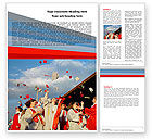 Education & Training: Graduation In Red Blue Colors Word Template #05620