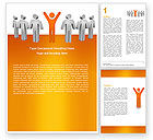 Careers/Industry: Orange Winner Word Template #05622